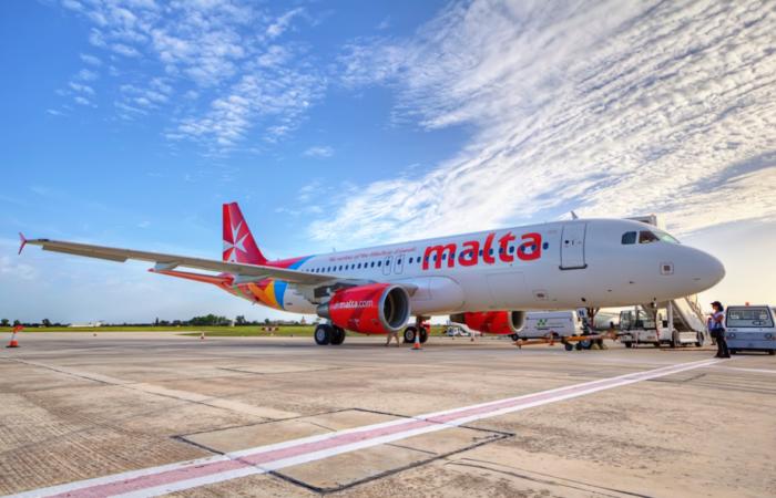 Flugzeug der Flugzeuggesellschaft Air Malta (Foto: © viewingMalta)