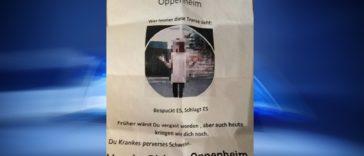Hassbotschaft in Oppenheim